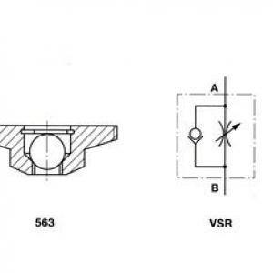 Válvula Reguladora de Vazão Unidirecional